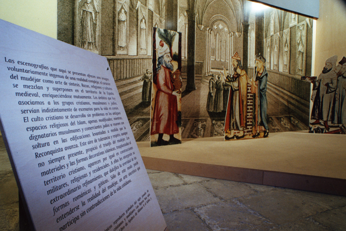 Staging of the exhibition The Ibero-American Mudejar, from the Islam to the New World.