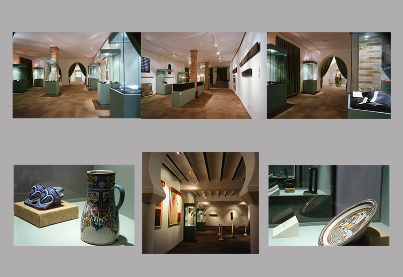 """Montaje con imágenes de la Exposición """"El Zoco vida y artes tradicionales en al-Andalus y Marruecos"""". Palacio de Villardompardo, Jaén."""