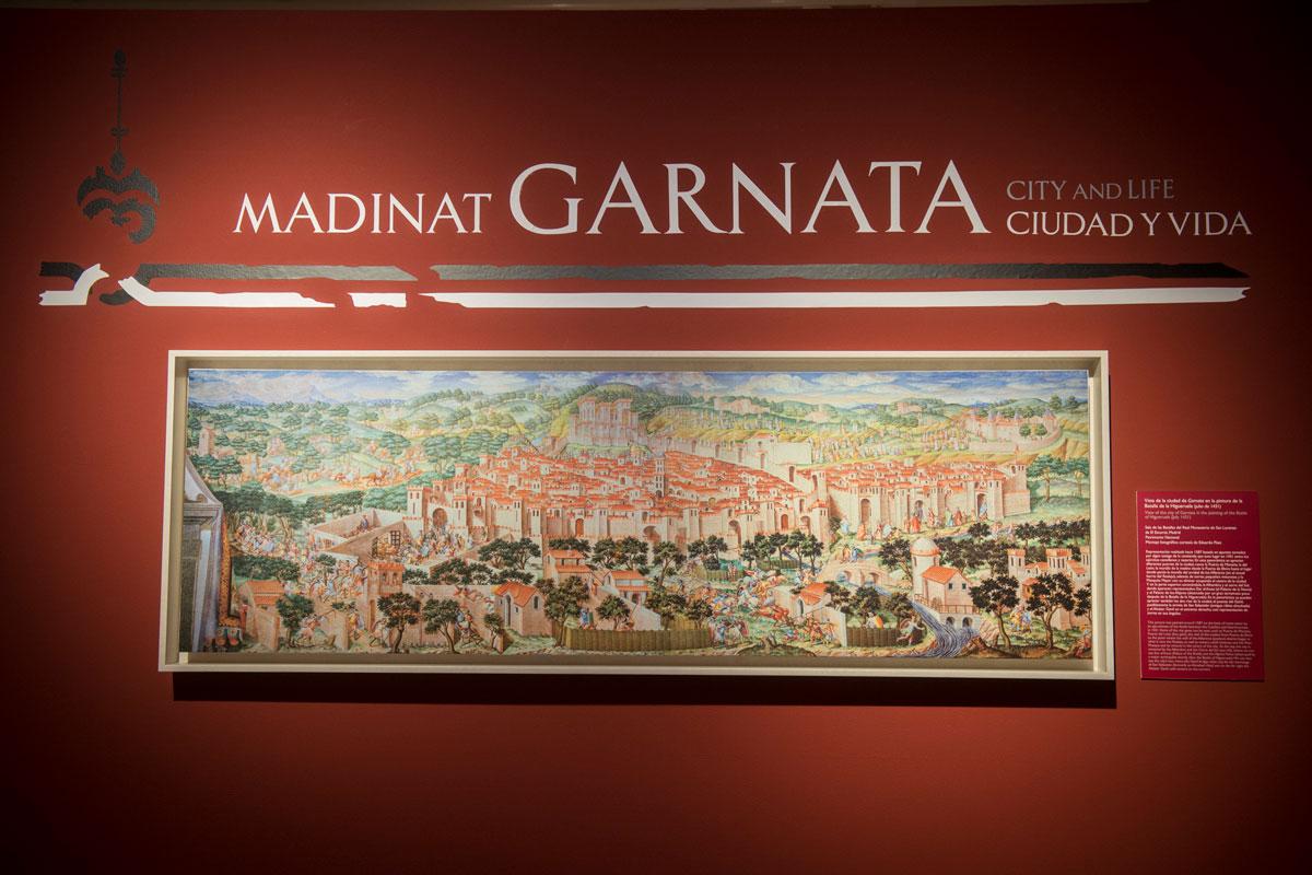 Vista de la ciudad de Garnata en la pintura de la Batalla de la Higueruela (julio 1431)