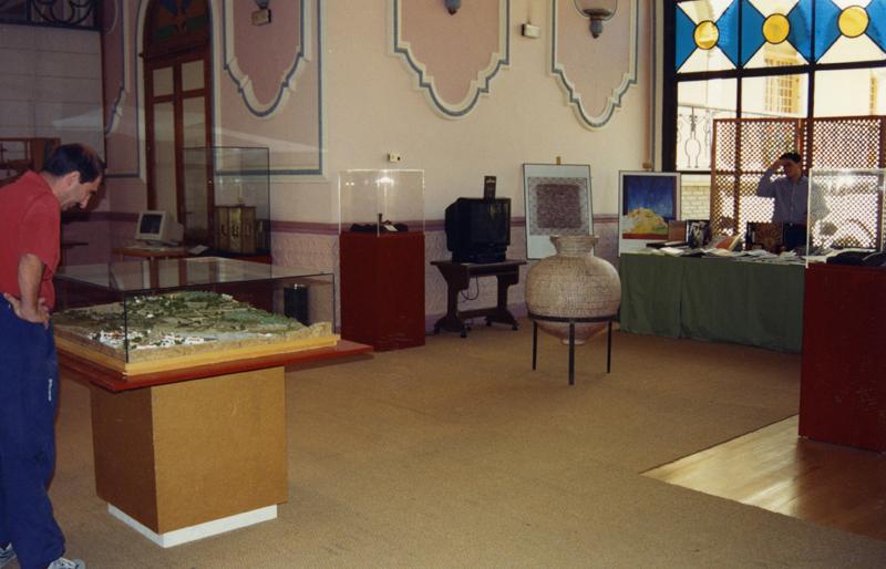 Maquetas, piezas expuestas en la Exhibición El legado andalusí en Jaén.