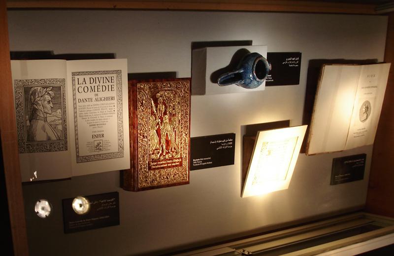 Obras literarias, en primer término la obra de Dante Alighieri, Divina Comedia, exponente por excelencia del siglo XIV.