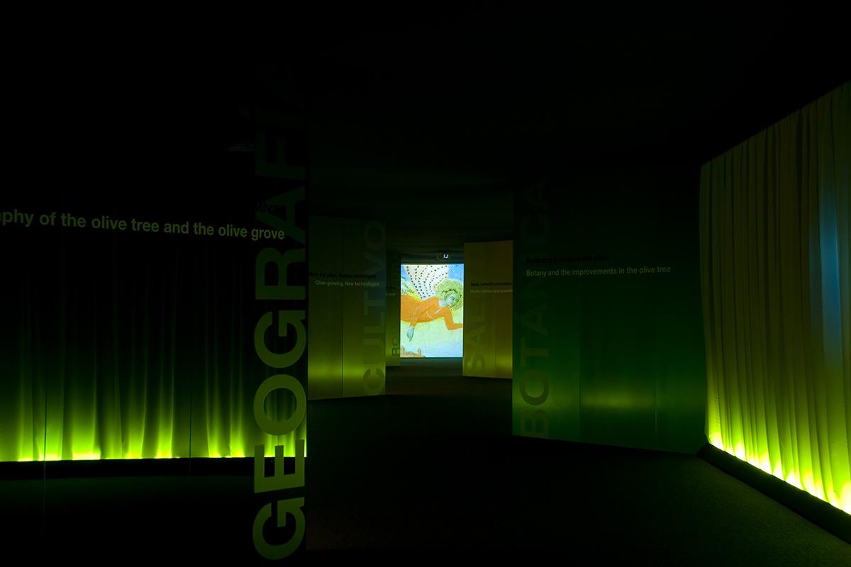 Espacio expositivo en la sede en Jaén.