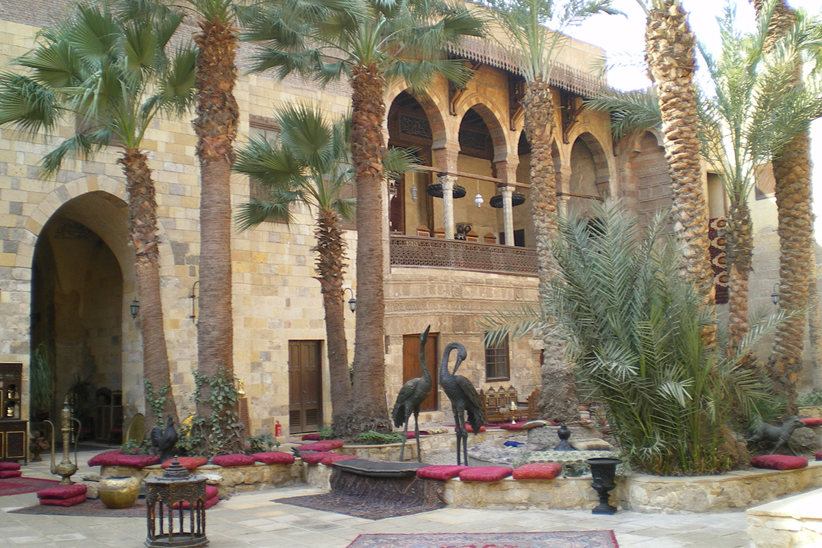 Emir Taz Palace, Cairo. Venues of the Exhibition Ibn Khaldun. Between al-Andalus and Egypt.
