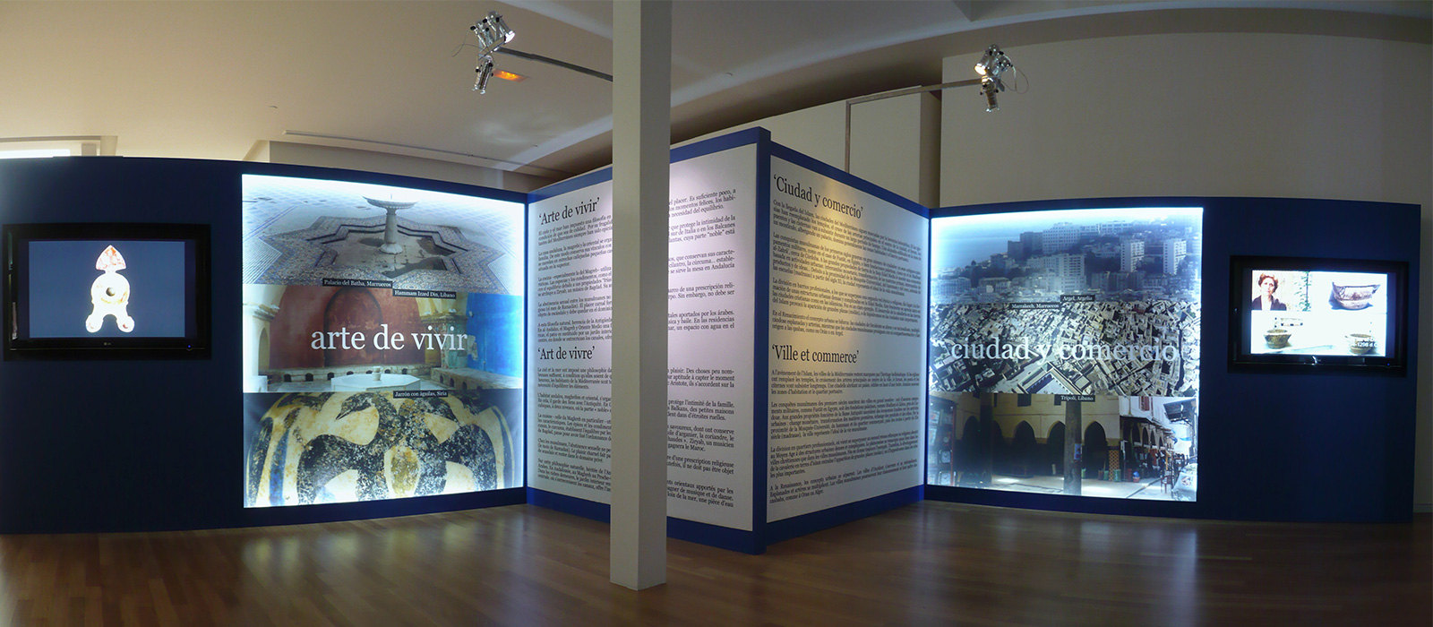 "Exhibition space dedicated to ""City and trade"" and ""The art of living"""