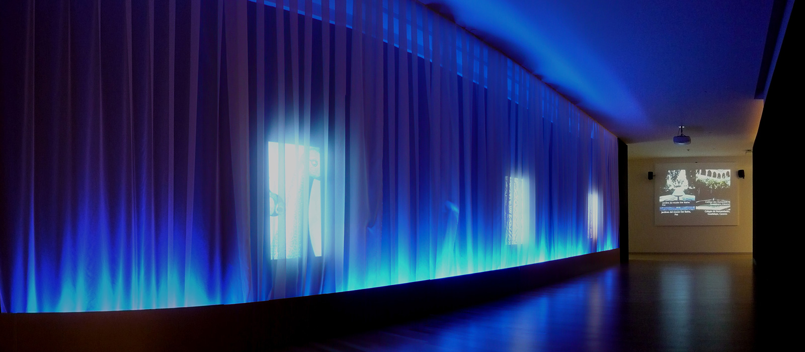 """Corridor of sensations"", in the exhibition."