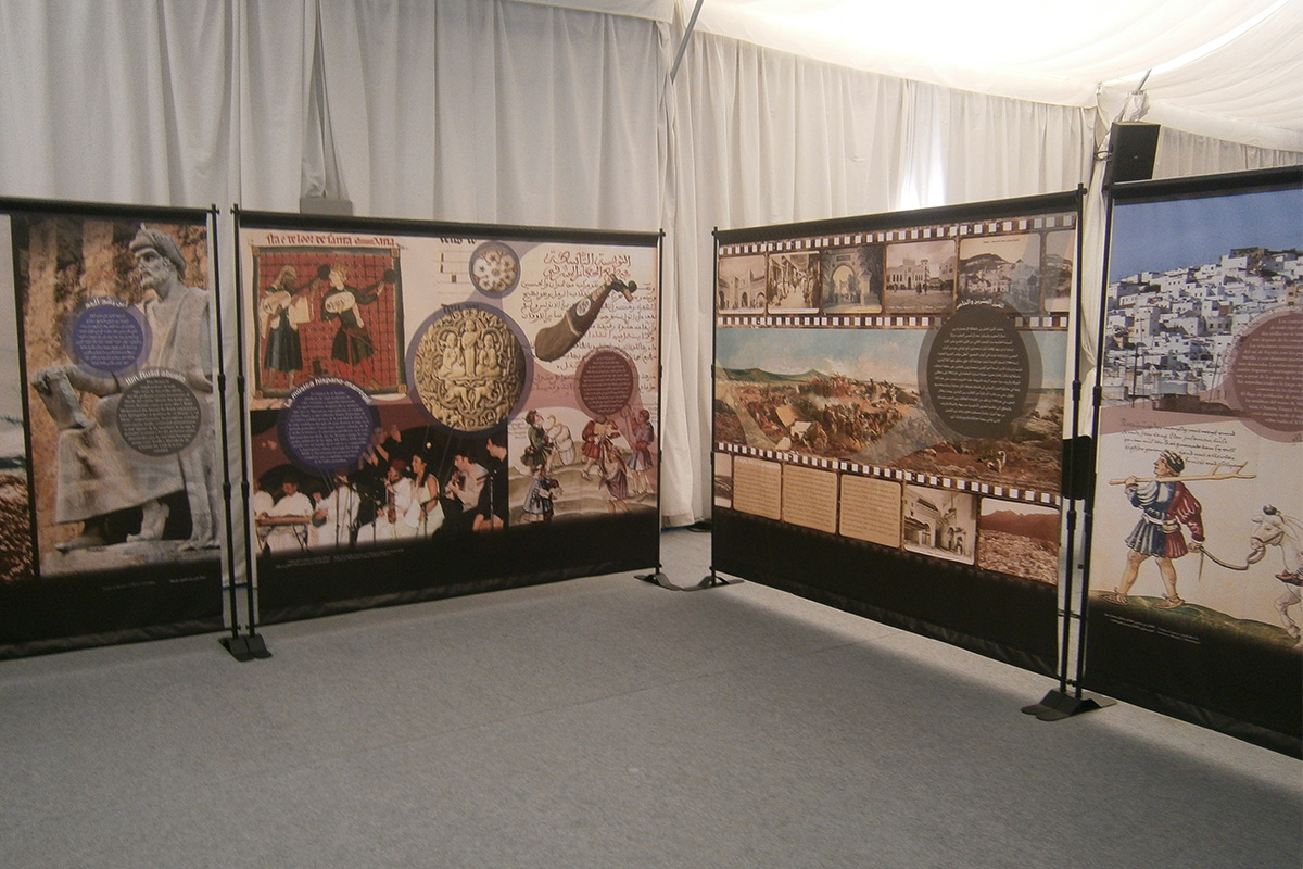 A view of the exhibition space in Seville. Andalusian Council of Chambers of Commerce of Andalusia