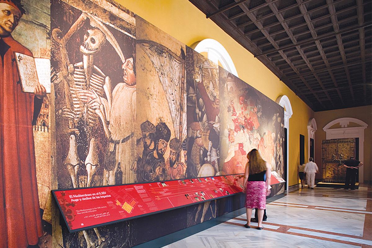 Un recorrido por el siglo XIV antesala al Cuarto del Almirante, Real Alcázar de Sevilla.