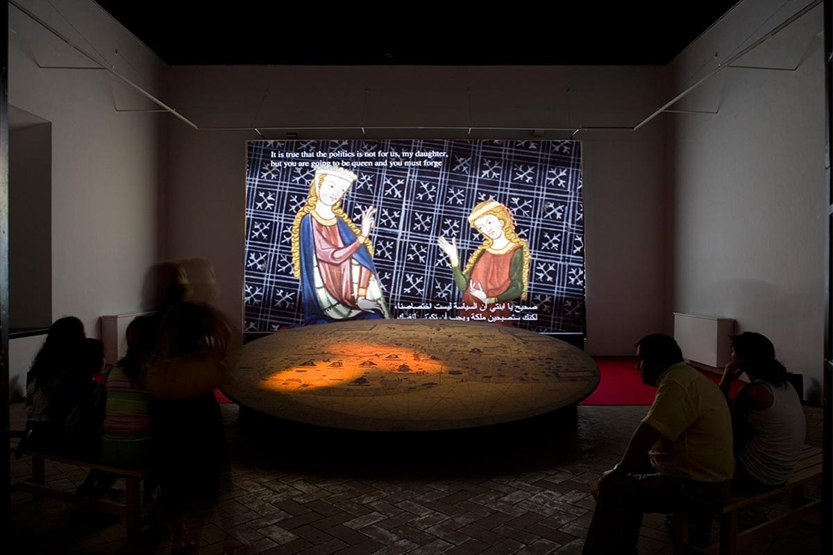 Audiovisual didáctico en la Exposición.