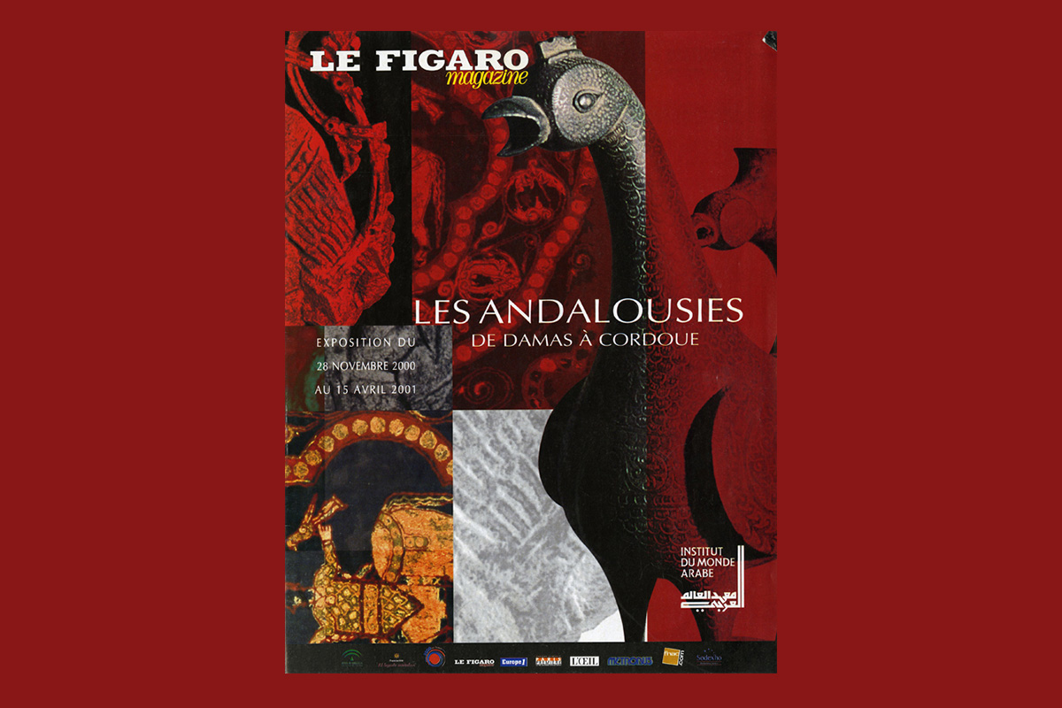 Cover of Le Figaro showing an exhibition motif.