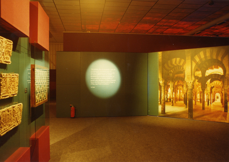 "Interior view and exhibition staging of ""Andalusia: history, life and traditions""."