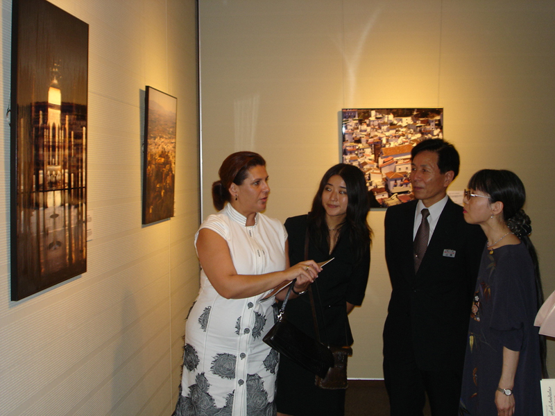 "Opening of the Exhibition ""Architecture of al-Andalus"". Documents for the 21st century. Nagoya (Japan)."