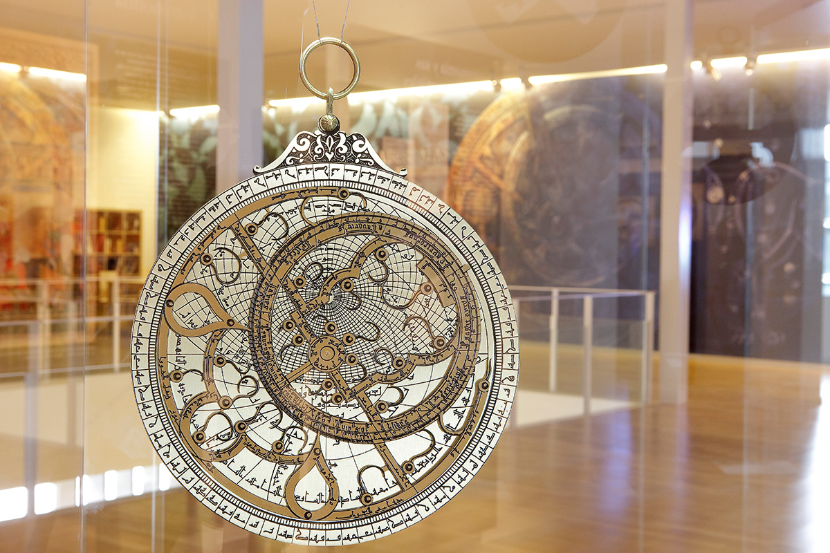 Astrolabe in the section dedicated to the Astronomy.