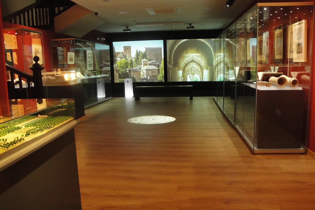 "A view of the exhibition ""Madinat Garnata. City and Life"", in Corral del Carbón (Granada)."