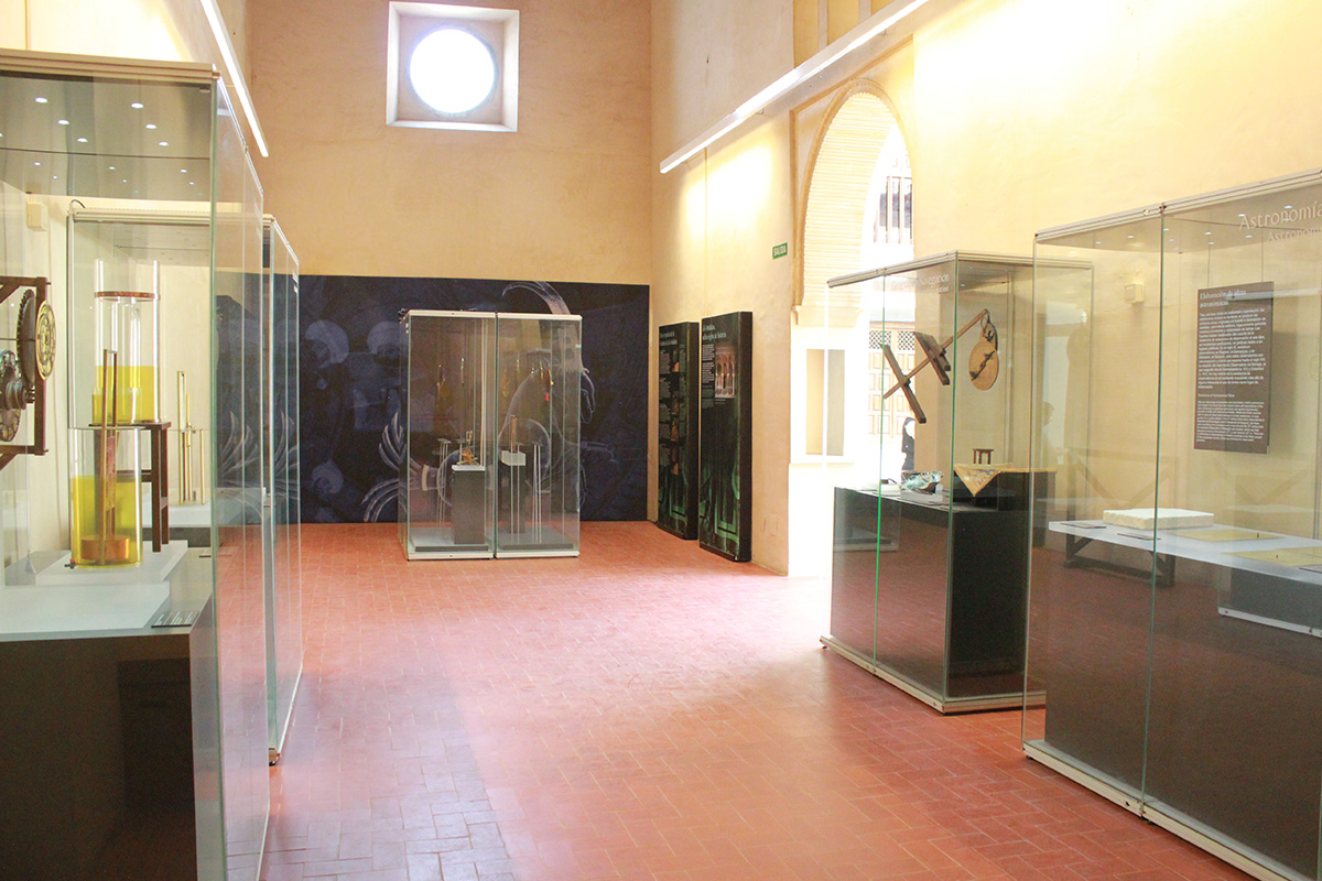 "A view of the hall in the lower floor of the exhibition ""Science in al-Andalus"". Palace of Dar al-Horra. Photo: Elaine McIlwrarith."