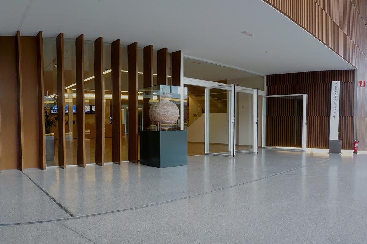 Entrada desde el Macroscopio del Parque de las Ciencias al Pabellón de al-Andalus y la Ciencia.