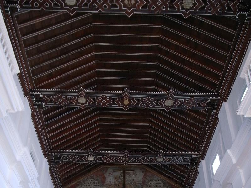 Techo de la Iglesia de Santo Toribio de Mogrovejo, Cartagena de Indias. Colombia.