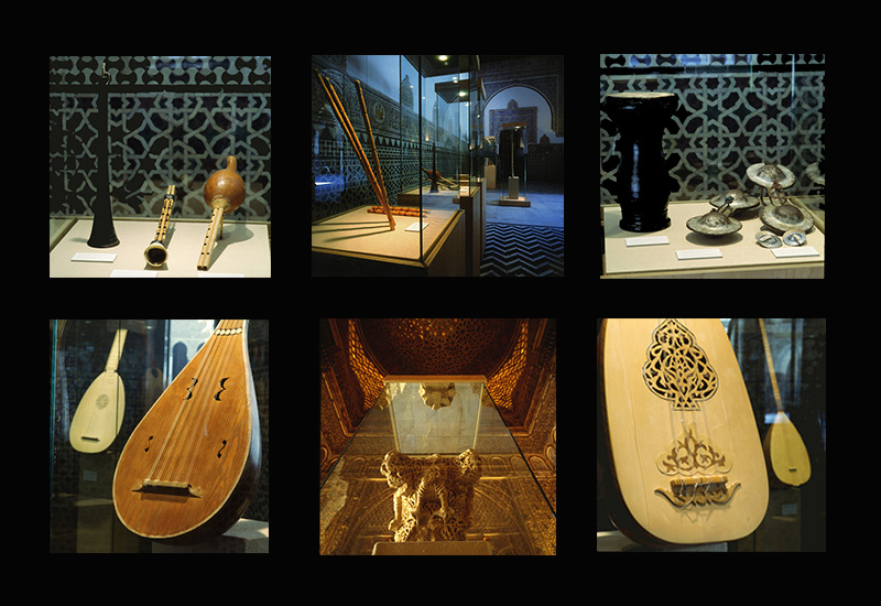 Some of the pieces on display. It is worth mentioning the capital of the Musicians (10th c., Archeological and Ethnographic Museum of Córdoba, that was exhibited in the Ambassadors Hall of the Real Alcázar of Seville.