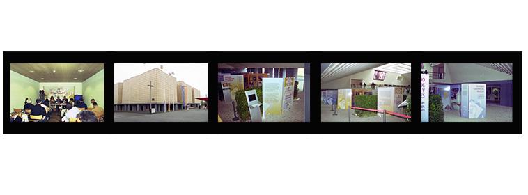 Presentación, pabellón, paneles de las Rutas de al-Andalus..... Pabellón de España de la Exposición Universal de Hannover con motivo de la Semana de Andalucía.