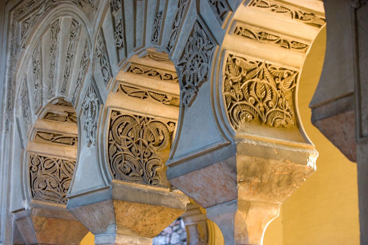 Detalle del interior de la Alcazaba de Málaga.