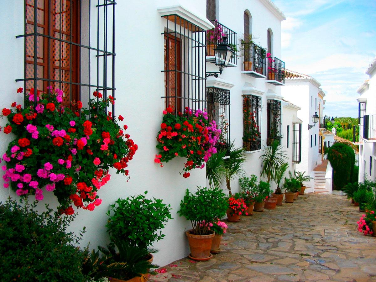 Típica estampa de la ciudad de Marbella. Málaga.