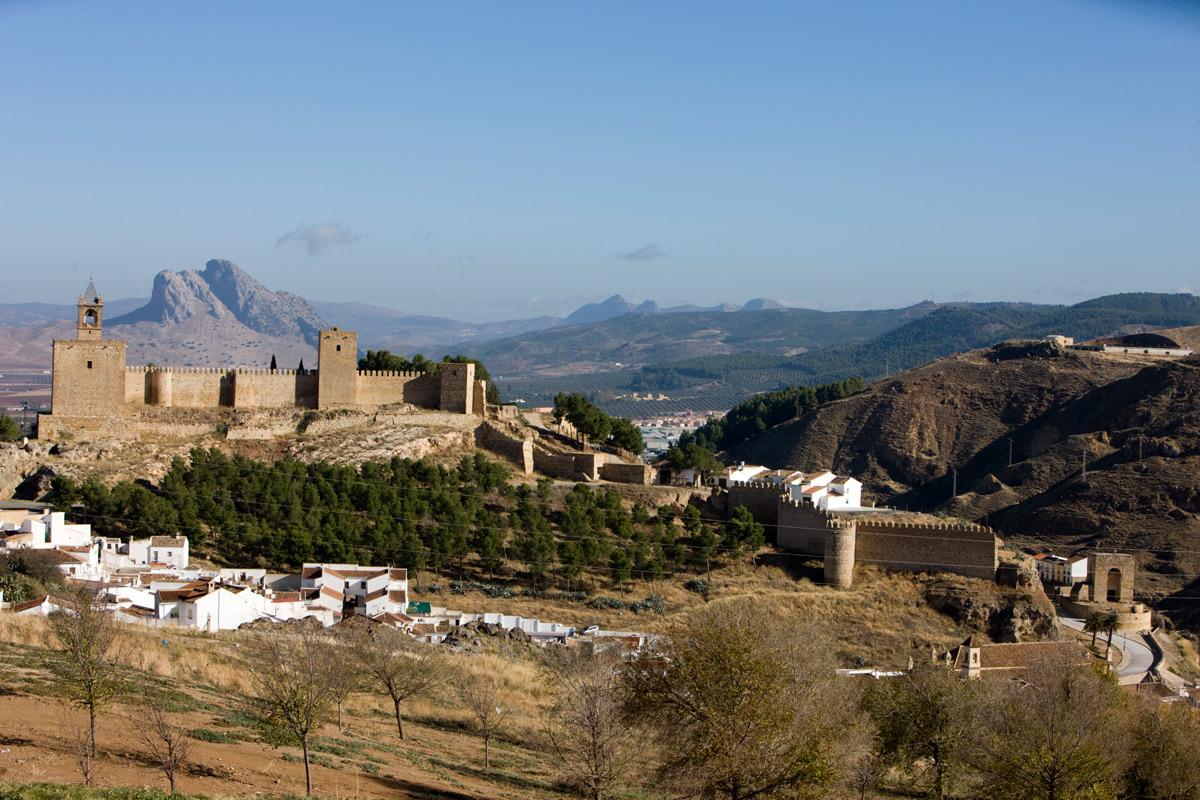 Recinto monumental de la Alcazaba. Antequera. Málaga.