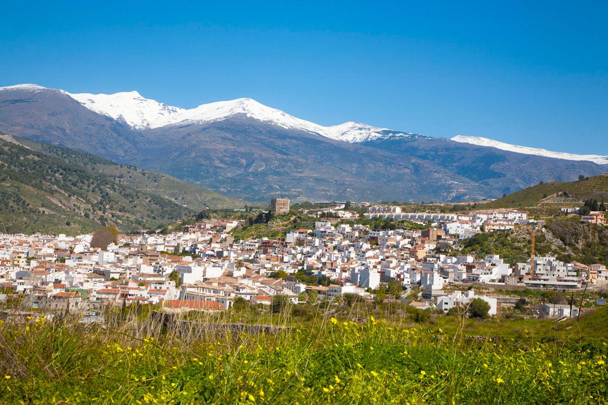 Vista del municipio de Vélez de Benaudalla. Granada.
