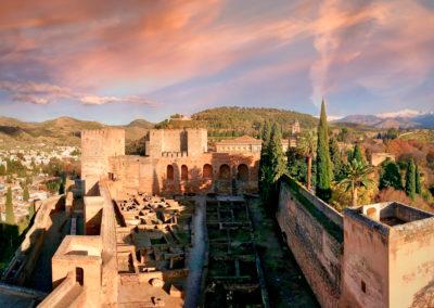 Vista de la Alcazaba.