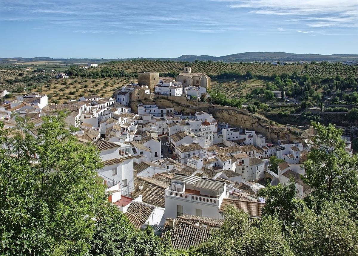 Panorámica de Setenil de las Bodegas. Cádiz.