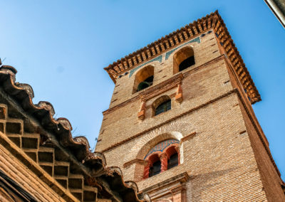 Bell tower in the Church of San Bartolomé