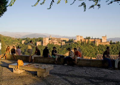 Viewpoint of San Nicolás with the Alhambra in the background