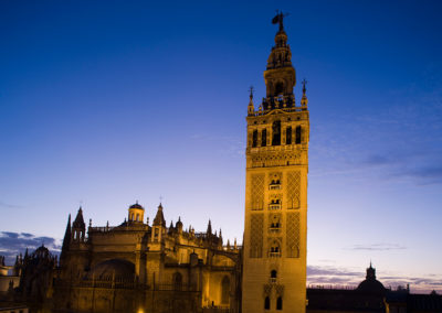 View of the Cathedral and the Giralda tower. Seville.