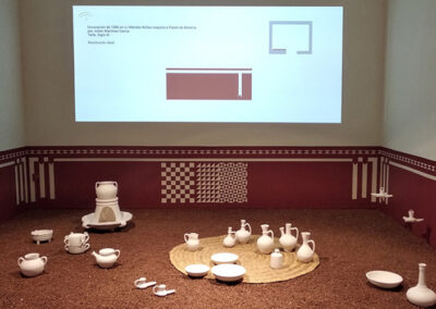 Recreación de espacio doméstico en la Exposición Arte y usos culinarios en al-Andalus