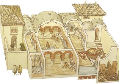 """Recreación de un """"hamman"""" o baño árabe"""