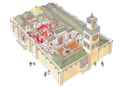 Recreación de una mezquita