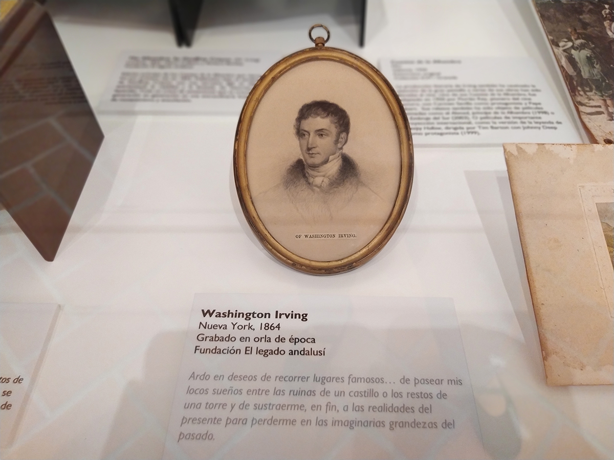 Washington Irving. Nueva York, 1864. Grabado en orla de época.