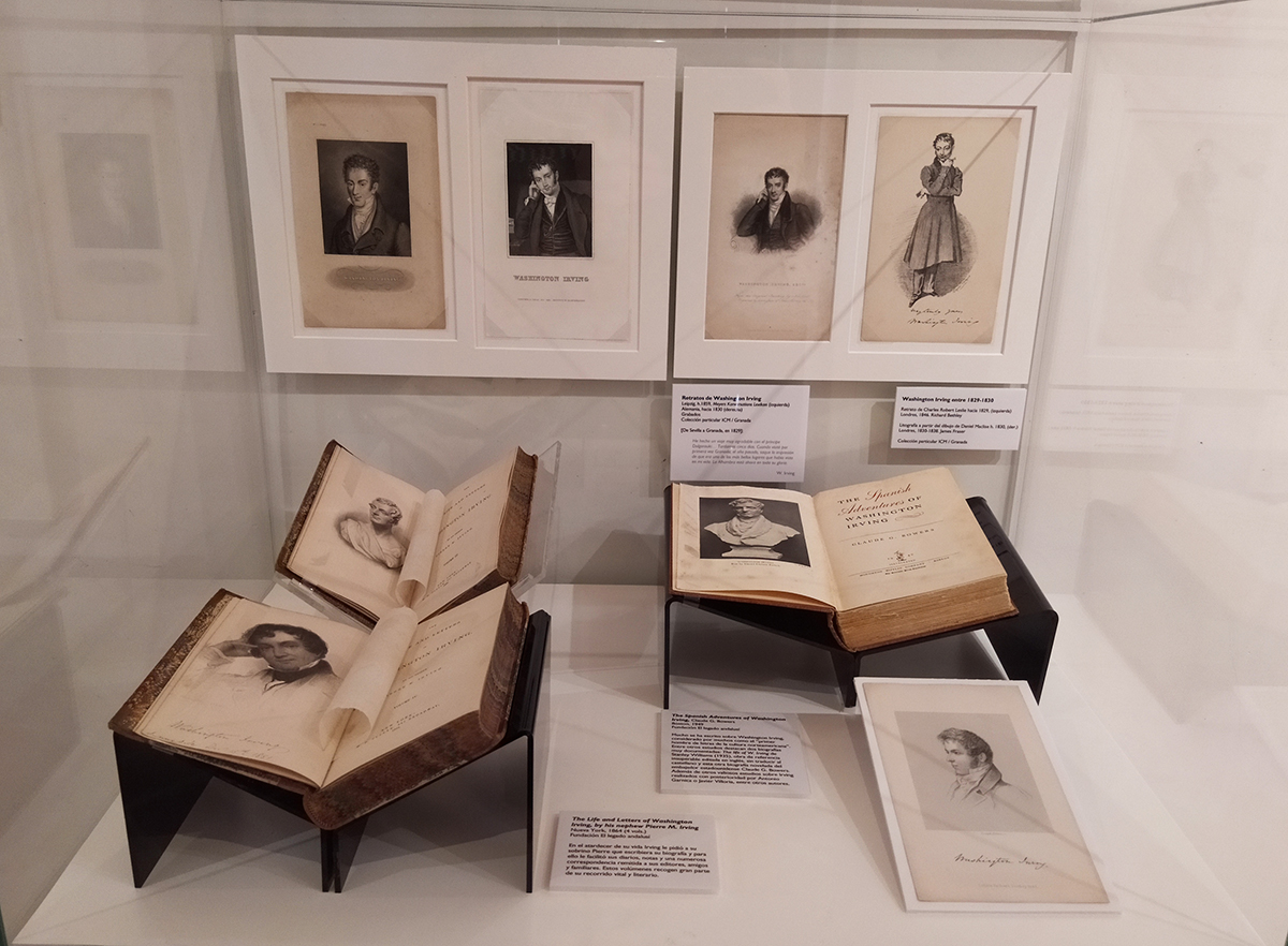 Washington Irving seen by different artists, along with bibliographical editions