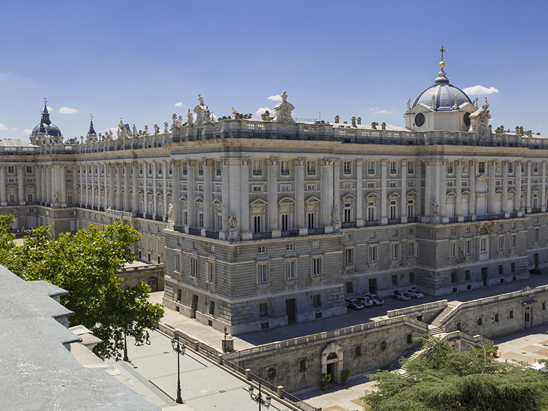 Façade of the Palacio Real. Madrid.