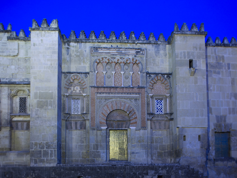 West façade of the Mosque-Cathedral, in Córdoba.