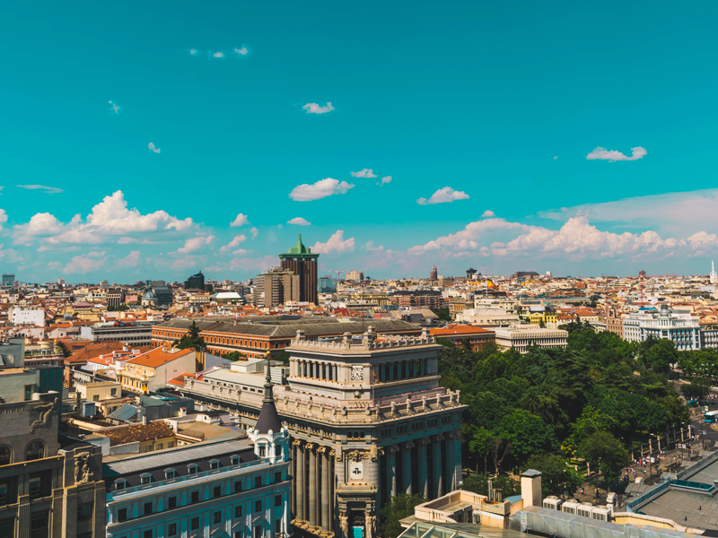 View of downtown Madrid.