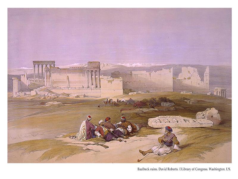 Baalbeck ruins. David Roberts. ©Library of Congress. Washington. US.